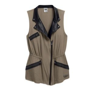 Harley Davidson asymmetrical vest